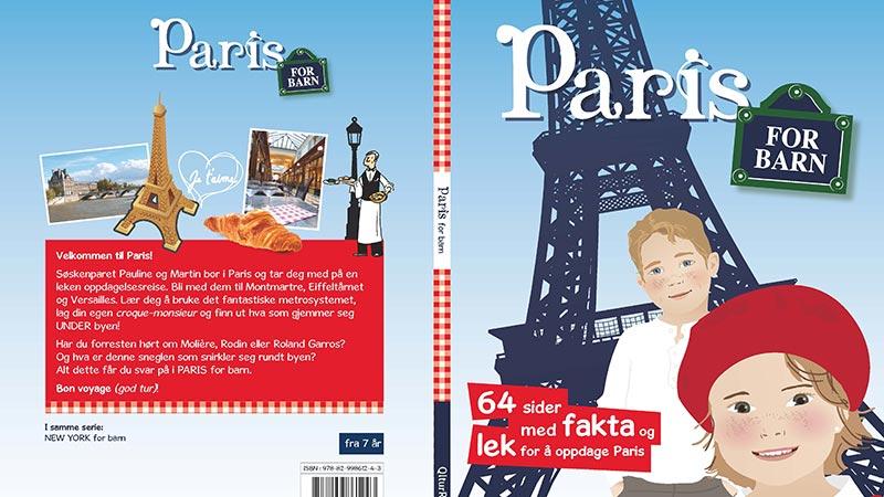 Reiseboka Paris for barn