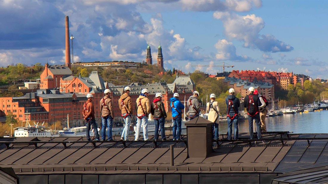 Takvandring i Stockholm