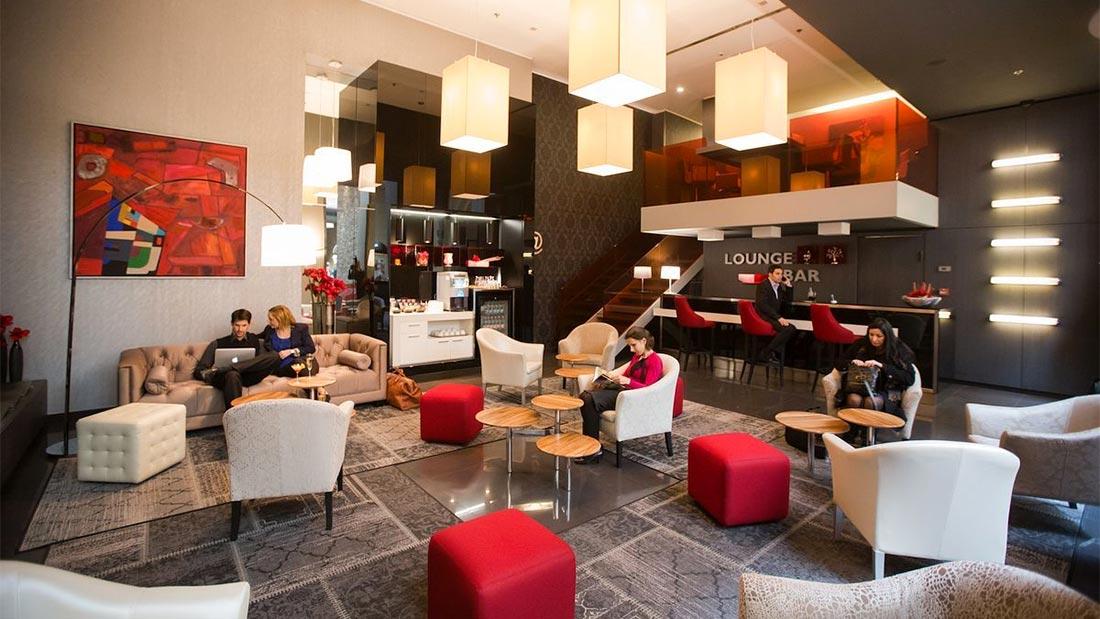 Lounge baren hos Hotel Palazzo Zichy i Budapest