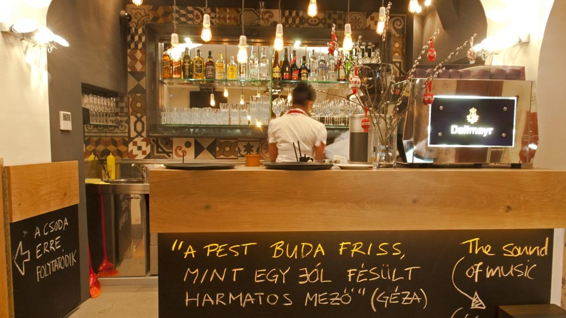 Interiør fra Pest-Buda i Budapest