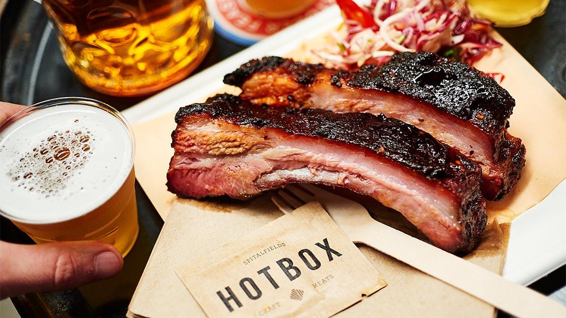 Mat fra Hotbox på Hawker House