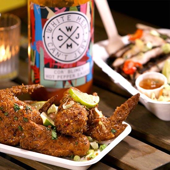 Fritert kylling fra White men can't jerk på Dinerama