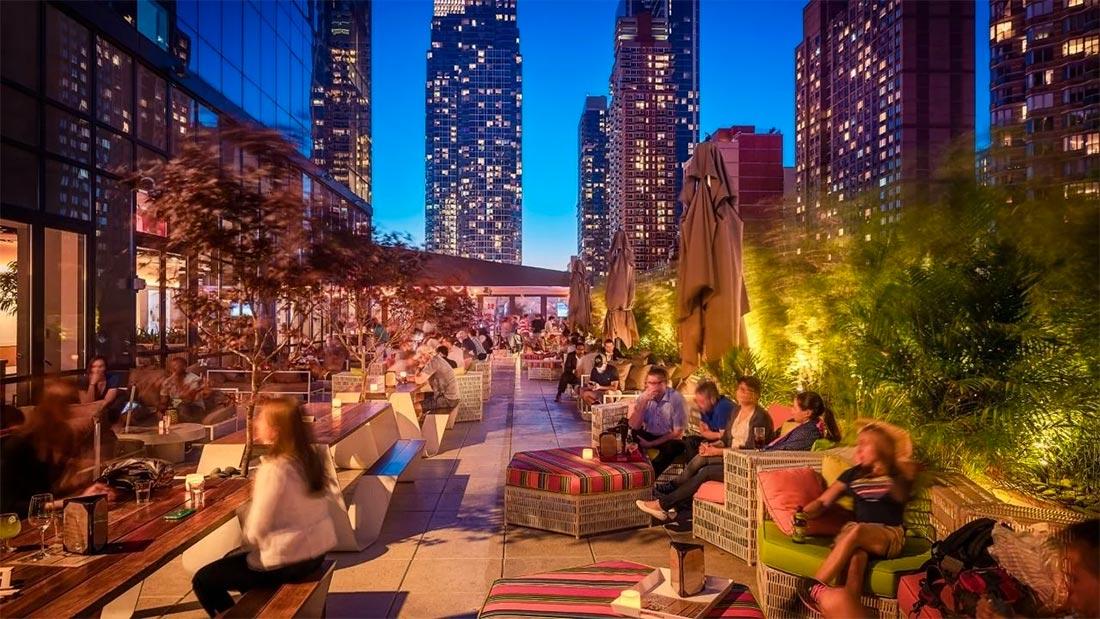Yotel New York har en fantastisk takterrasse