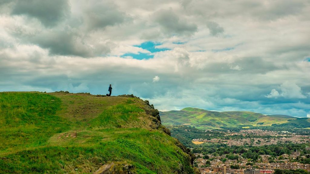 Arthur's seat i Edinburgh