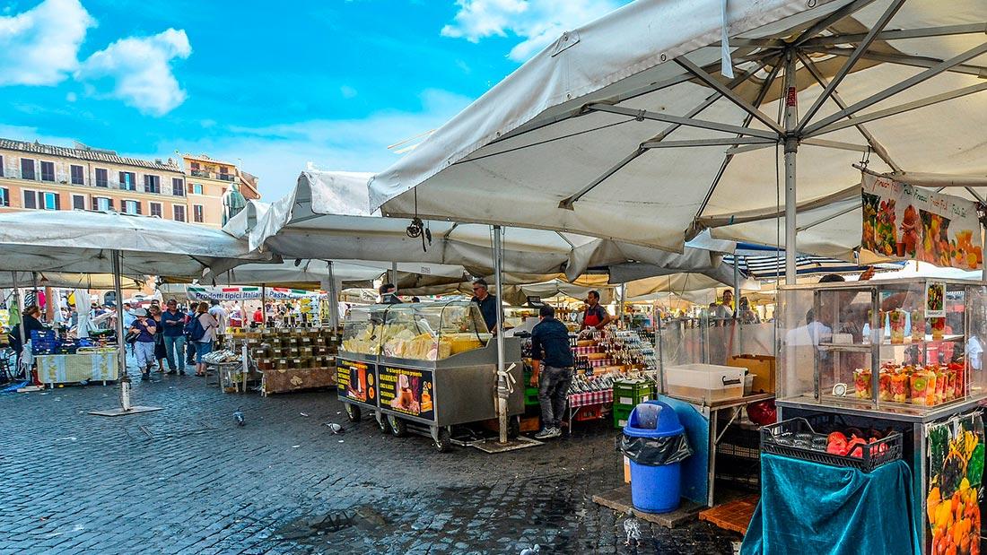 Campo de' Fiori i Roma