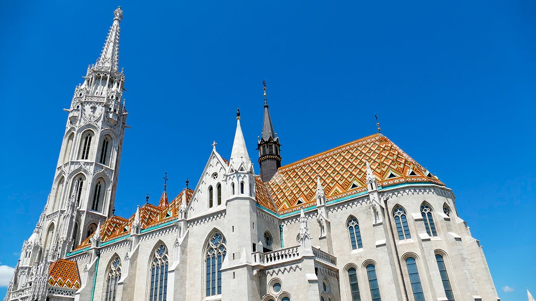 Den vakre Mattias-kirken i Budapest