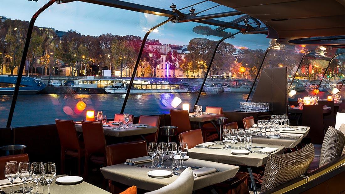 Romantisk middagscruise på Seinen