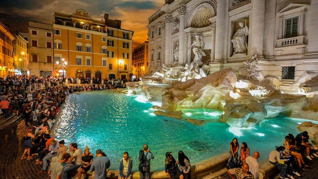 Trevifontenen i Roma