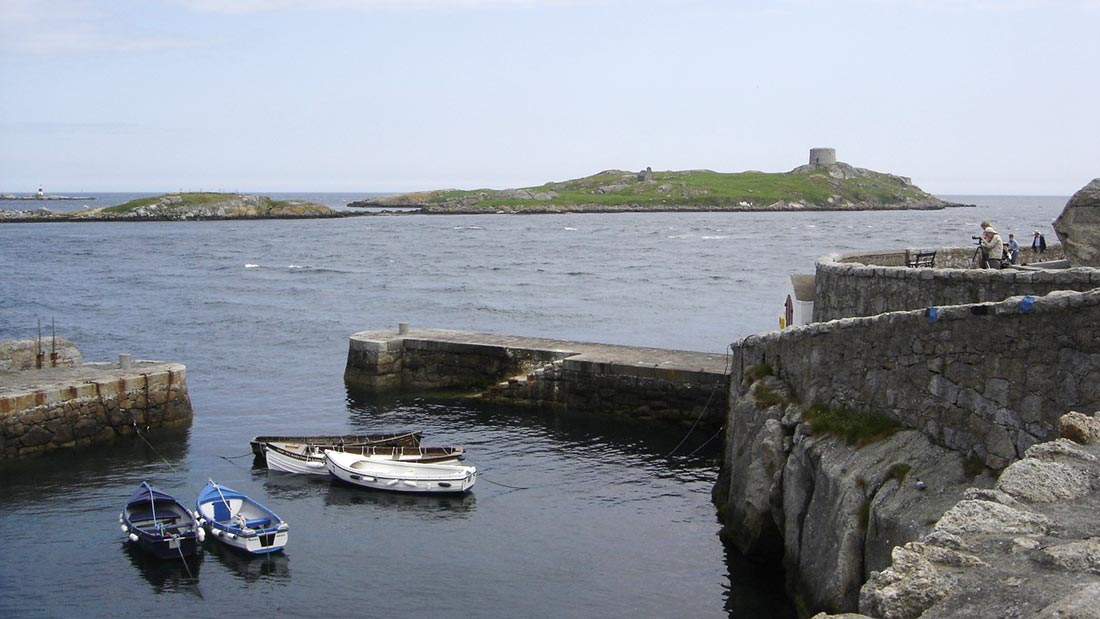 Utsikt over til Dalkey Island.