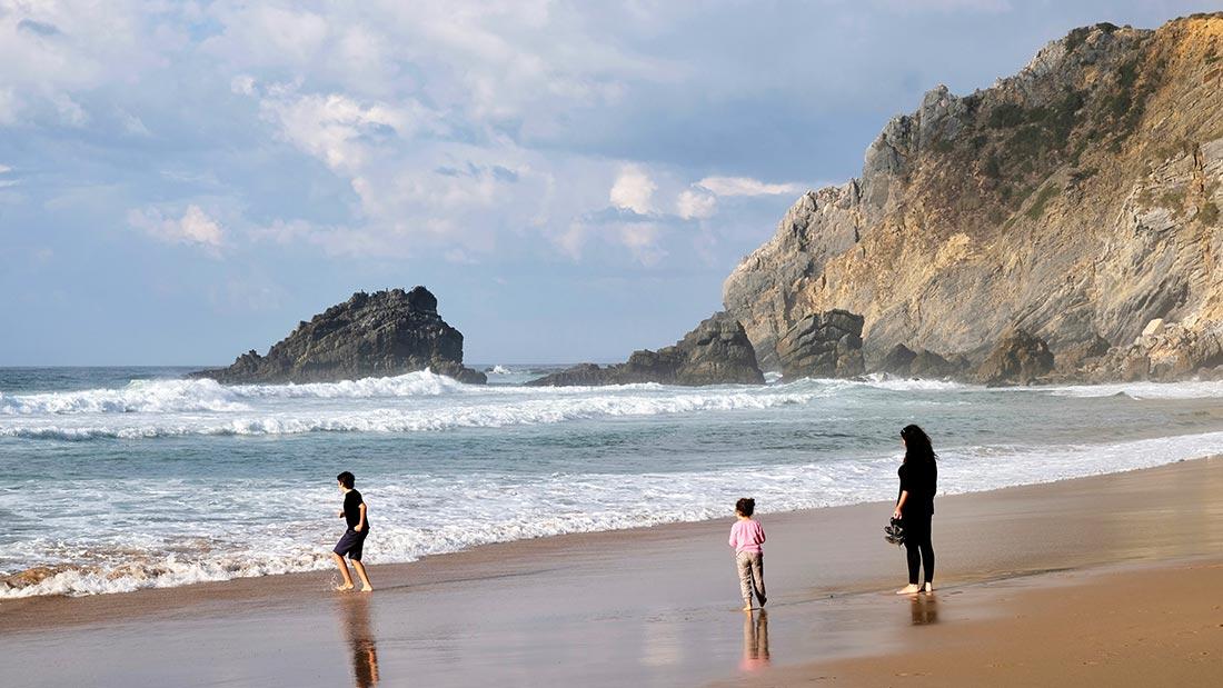 Praia da Adraga ved Sintra