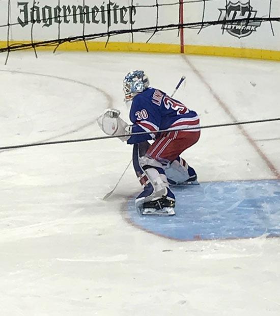 Henrik Lundqvist spiller på New York Rangers