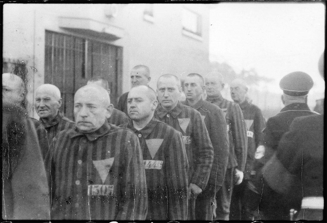 Fanger i Sachsenhausen i 1938