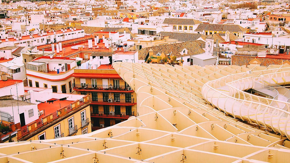 Taket på Setas de Sevilla i Sevilla