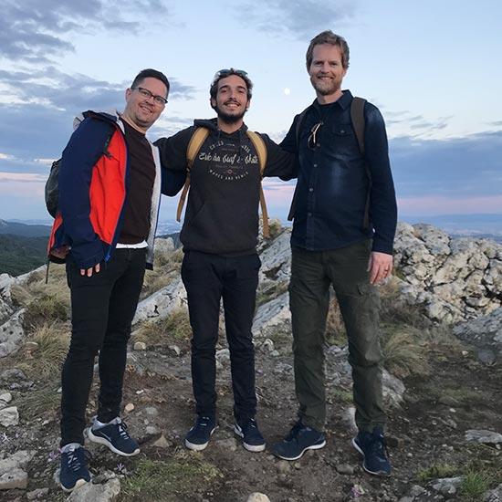 Kent, Jorge og Sveinung i Sintra