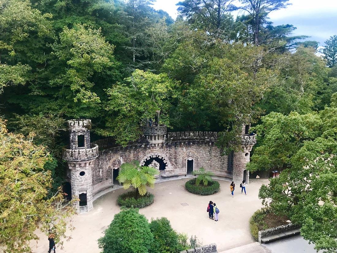Utsikt fra tårnet i Quinta da Regaleira