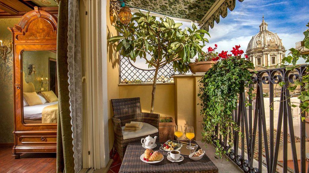 Balkong på Boutique Hotel Campo de' Fiori