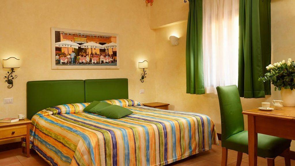 Fra en av rommene hos Hotel Santa Maria i Roma