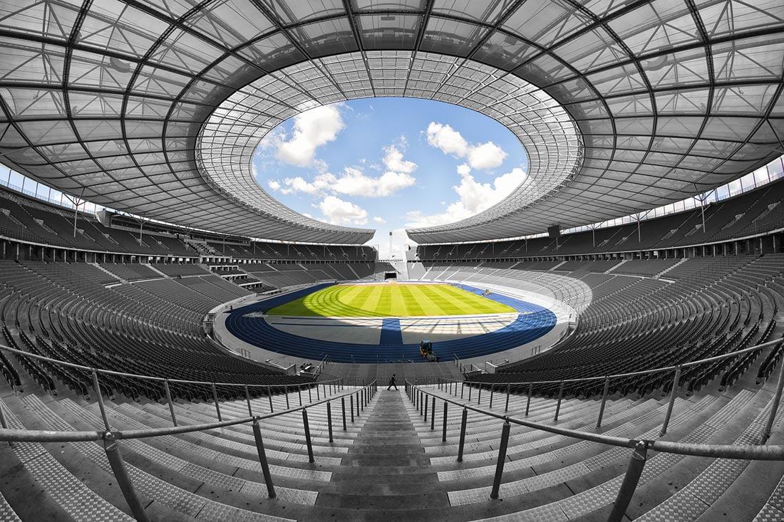 Olympiastadion - hjemmebanen til Hertha Berlin
