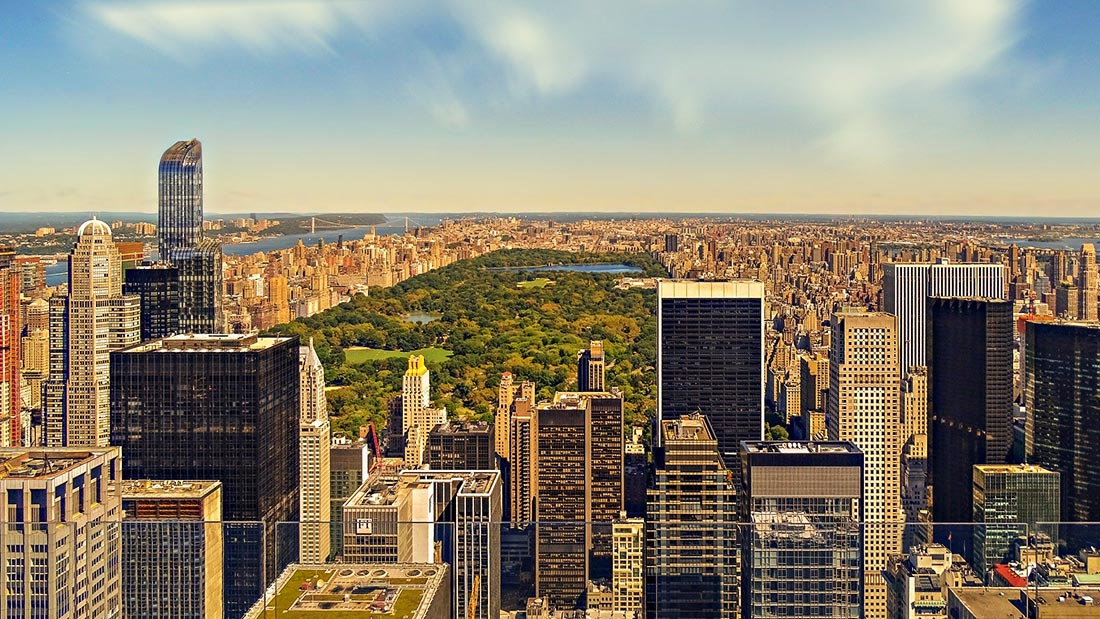 Utsikt over Central Park i New York