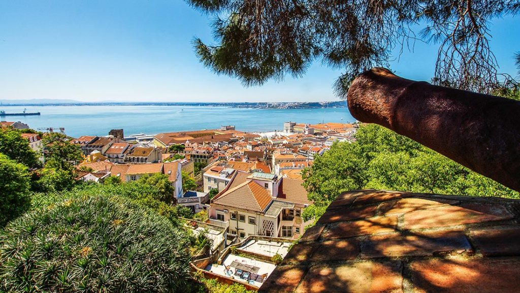 Utsikt fra Castelo de São Jorge i Lisboa